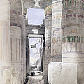 View Through The Hall Of Columns by David Roberts