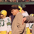Vince Lombardi In Trench Coat by Retro Images Archive