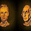 Washington And Lincoln by David Dehner
