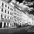 White Buildings In Prague by John Rizzuto