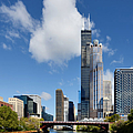 Willis Tower And 311 South Wacker Drive Chicago by Christine Till