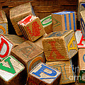 Wooden Blocks With Alphabet Letters by Amy Cicconi