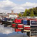 Worcester Diglis Basin Narrow Boats by Colin and Linda McKie