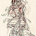 Wounded Samurai Drinking Sake C. 1870 by Daniel Hagerman