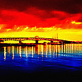 Yorktown Bridge Sunset by Bill Cannon