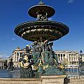 Fountain At Place De La Concorde. Paris. France by Bernard Jaubert