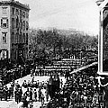 Lincolns Funeral Procession, 1865 by Photo Researchers