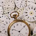 Old Pocket Watch On Dail Faces by Garry Gay