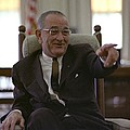President Lyndon Johnson Gesturing by Everett