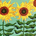 Three Sunflowers by Genevieve Esson