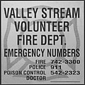 Valley Stream Fire Department In Black And White by Rob Hans
