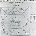 Horoscope Chart For Louis Xiv, 1661 by Science Source