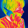 A Thermogram Of A Boy Talking by Ted Kinsman
