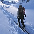 A Woman Skiing In The Selkirk by Jimmy Chin