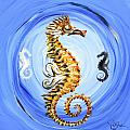 Abstract Sea Horse by J Vincent Scarpace