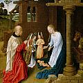 Adoration Of The Christ Child  by Master of San Ildefonso