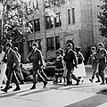 African-american Students Leaving by Everett