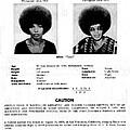 Angela Davis Fbi Wanted Ad, August 8th by Everett
