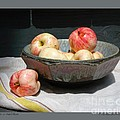 Apples In An Aerni Bowl by Patricia Overmoyer