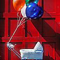 Baby Buggy With Balloons  by Garry Gay