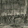 Battle Of The Wilderness, 1864 by Photo Researchers