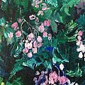 Begonias At Longwood by Carol Mangano