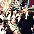 Bill Clinton Appears With Young by Everett
