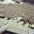 Boeing Workers Gather To Hear A Pilot by J Baylor Roberts