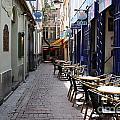 Brussels Side Street Cafe by Carol Groenen