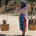 Boy in Basket in Burma