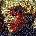 Charlie Buckets Fizzy Lifting Drinks  Bottle Cap Mosaic by Paul Van Scott