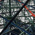 Close-up Of Ferris Wheel Mechanism by Todd Gipstein