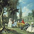 Concert In A Garden by Filippo Falciatore