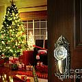 Door Opening Into A Christmas Living Room by Sandra Cunningham