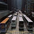 Double Decker Buses In The Streets by Justin Guariglia
