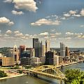 Downtown Pittsburgh Hdr by Arthur Herold Jr