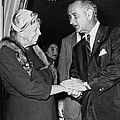 Eleanor Roosevelt Shaking Hands by Everett