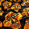 Faces Yellow by Karen Elzinga