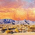 Fiery Western Sky Antarres Road Az by Lizi Beard-Ward