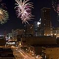 Fireworks Over The City by Ricky Barnard