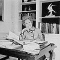 First Lady Pat Nixon Working At A Small by Everett