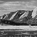 Flatirons From Chautauqua Park Bw by James BO  Insogna