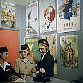 Flight Attendants Stand And Talk by B. Anthony Stewart