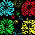 Floral Pop Art by Aimee L Maher ALM GALLERY
