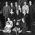 Franklin Roosevelt Family On Christmas by Everett