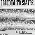 Freedom To Slaves by Photo Researchers