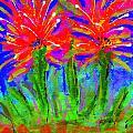 Funky Flower Towers by Angela L Walker