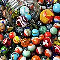 Glass Jar And Marbles by Garry Gay