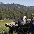 Gloria Reid Relaxing In by Rich Reid