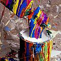 Hand Coming Out Of Paint Bucket by Garry Gay